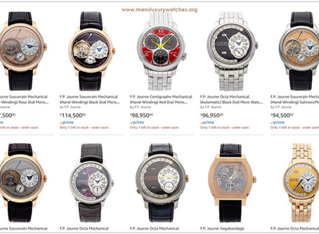 Luxury shopping guide: F. P Journe Men's Watches Price List