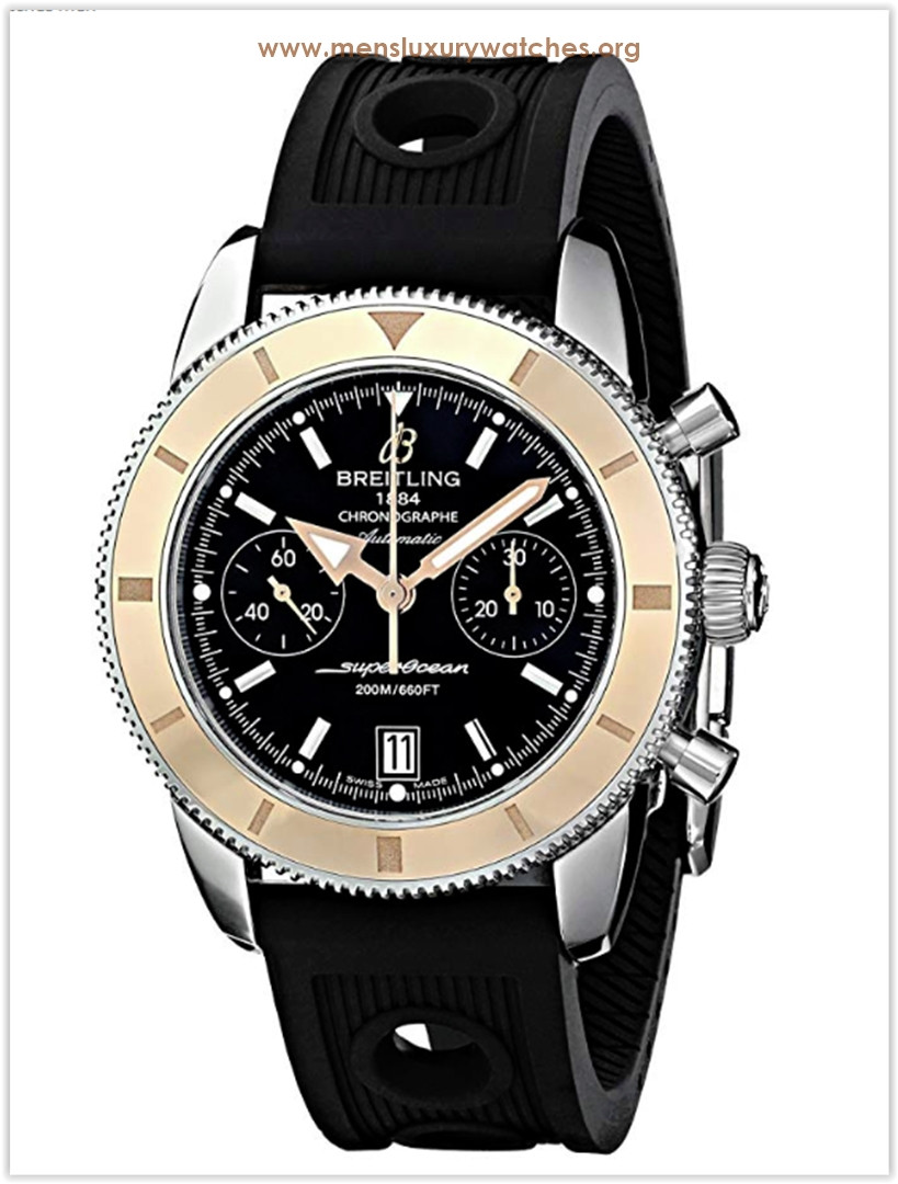 Breitling Analog Display Swiss Automatic Black Men's Watch Price