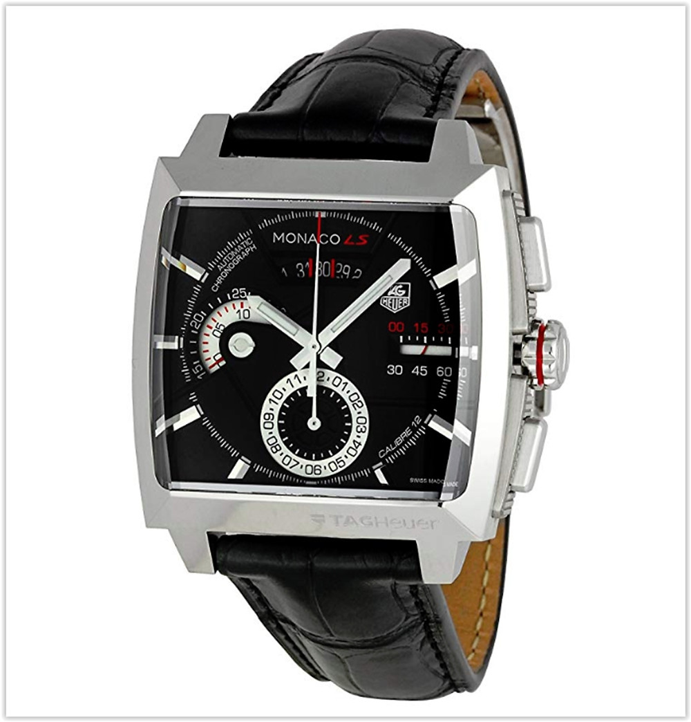 TAG Heuer Men's CAL2110FC6257 Monaco Black Dial Watch best price