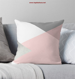 Geometrics - grey blush silver Throw Pil