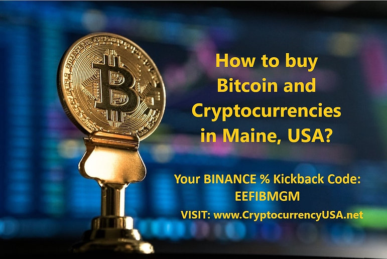 How to buy Bitcoin and Cryptocurrencies in Maine, USA?