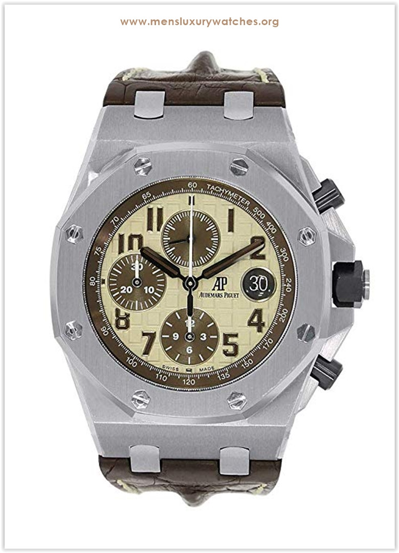 Audemars Piguet Offshore Chronograph Steel Ivory Brown Dial Men's Watch the best price
