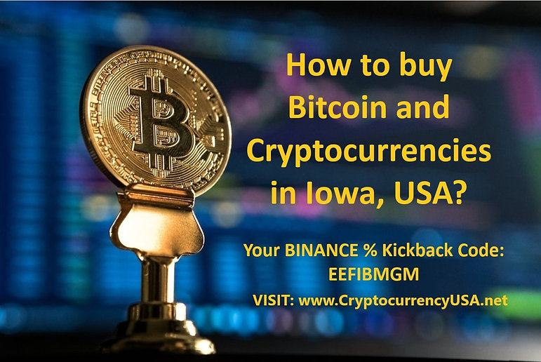 How to buy Bitcoin and cryptocurrencies in Iowa, USA?