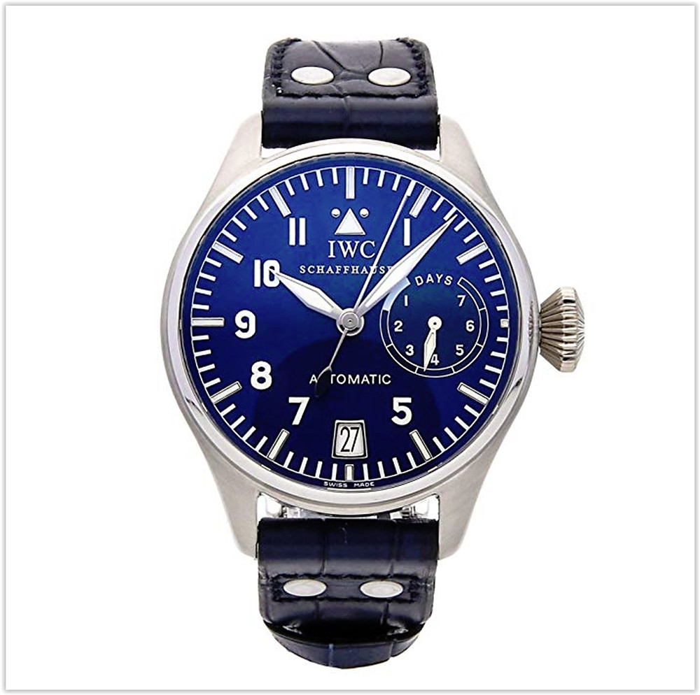 IWC Pilot Mechanical  Blue Dial Mens Watch