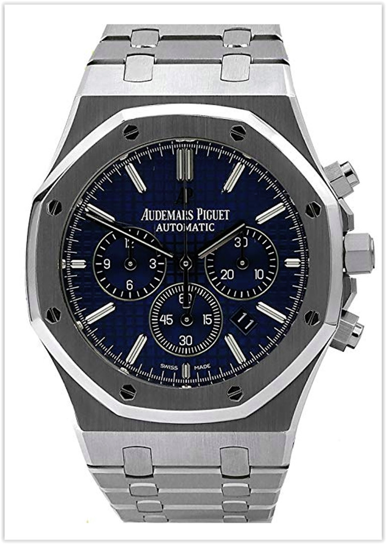AUDEMARS PIGUET ROYAL OAK CHRONOGRAPH STAINLESS STEEL 41MM BLUE DIAL Men's Watch Price