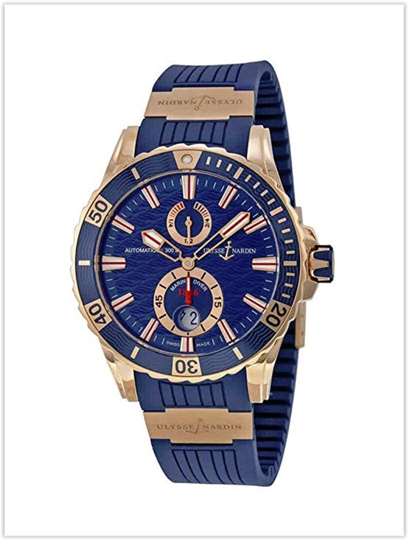 Ulysse Nardin Maxi Marine Diver 44mm Solid 18K Rose Gold Men's Watch Price