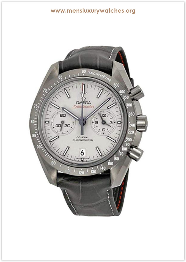 Omega Speedmaster Professional Grey Side of the Moon Chronograph Automatic Sandblasted Platinum Dial Grey Leather Men's Watch Price