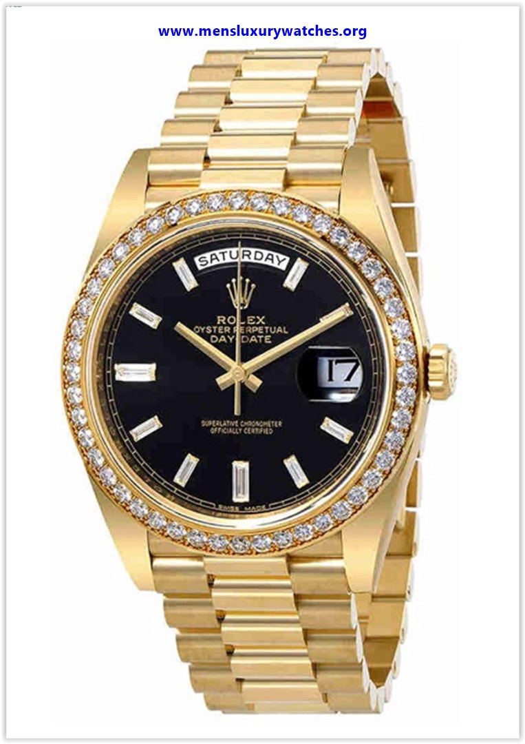 Best buy Rolex Oyster Perpetual Day-Date Black Dial Automatic Men's 18 Karat Yellow Gold President Watch
