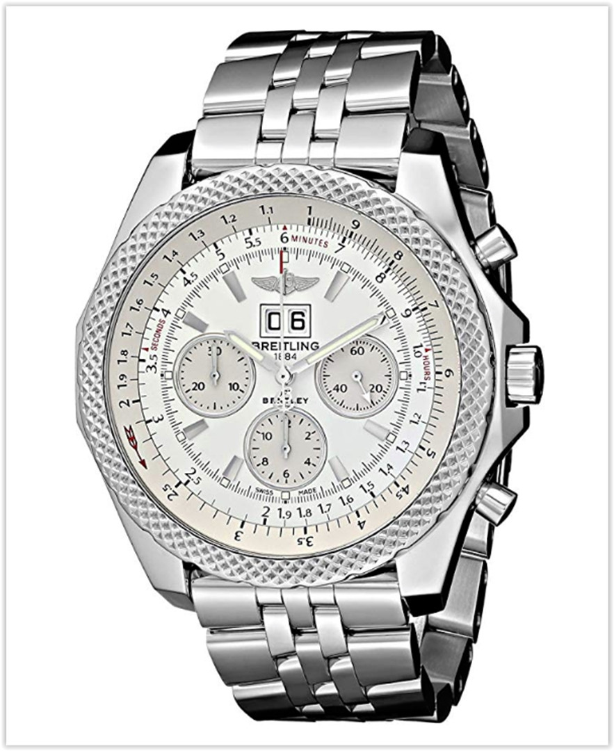 Breitling Men's Bentley Analog Display Swiss Automatic Silver Watch best price