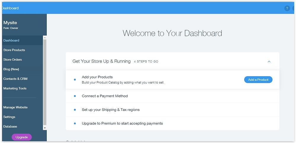 Online store webpage settings