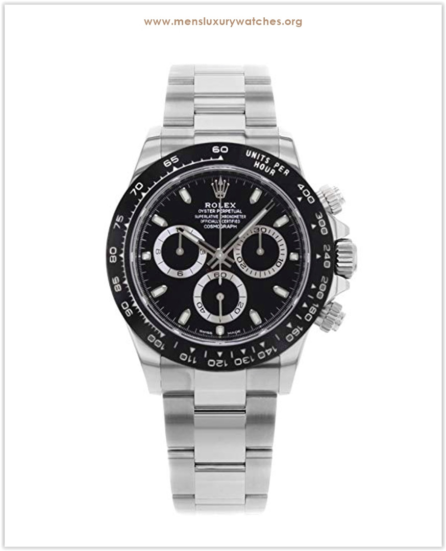 Rolex Daytona Black Dial Stainless Steel Oyster Cosmograph Men's Watch discount price