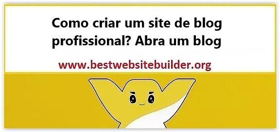 Como criar um site de blog profissional.