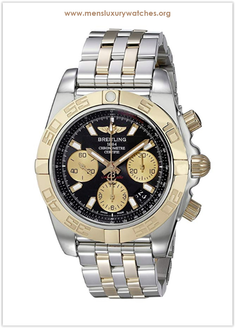 Breitling  Chronomat 41 Automatic Black Dial 18K Rose Gold and Steel Men's Watch Price