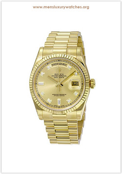 Rolex Day-Date Analog Automatic 18kt Yel