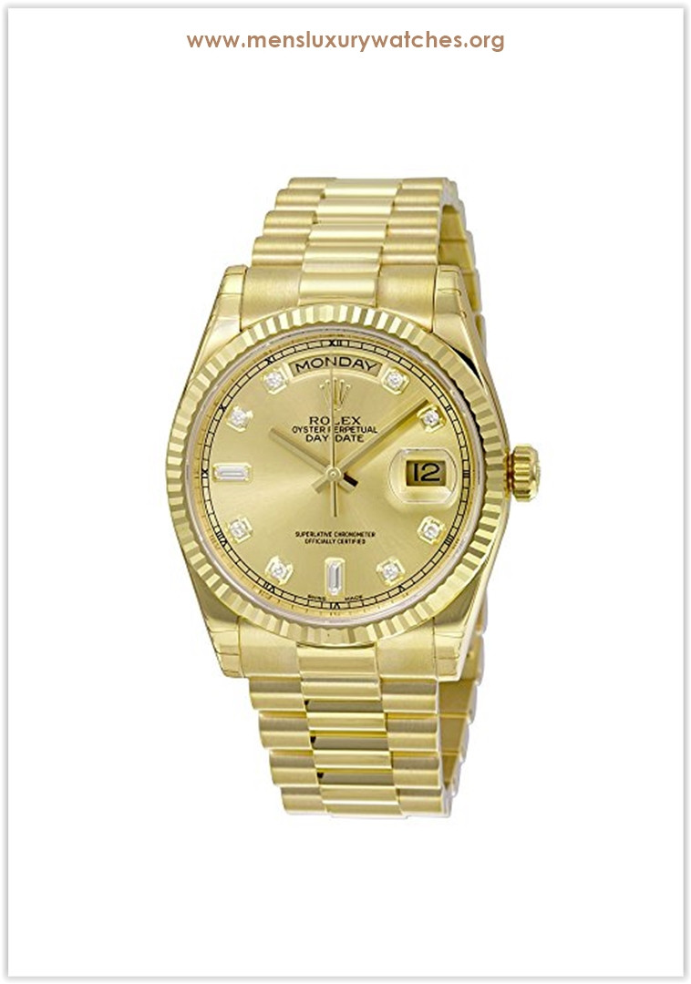 Rolex Day-Date Analog Automatic 18kt Yellow Gold Men's Watch Price