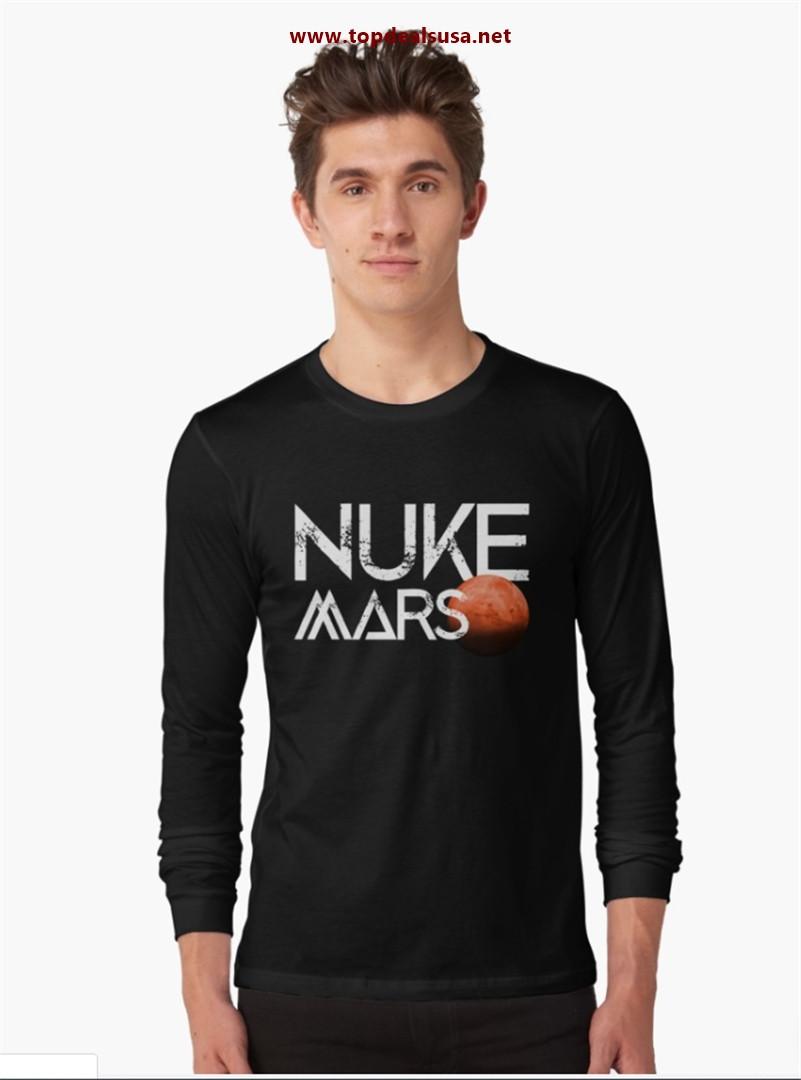 Nuke Mars Space Exploration Rocket Terraform Design Long Sleeve T-Shirt