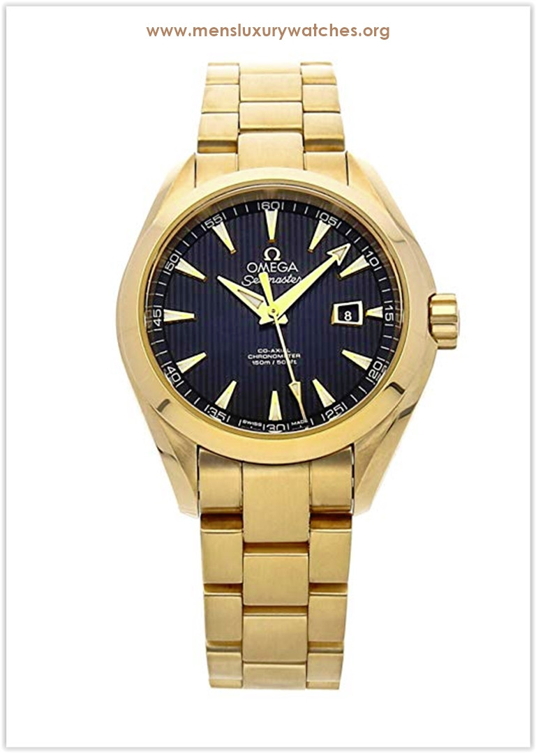 Omega Seamaster Mechanical (Automatic) Yellow Gold Black Dial Men's Watch Price