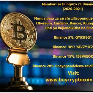 Nambari za Punguzo za Binance 20% (2020-