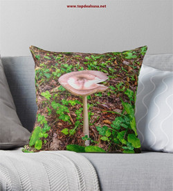 Mushrooms in the Valley Throw Pillow