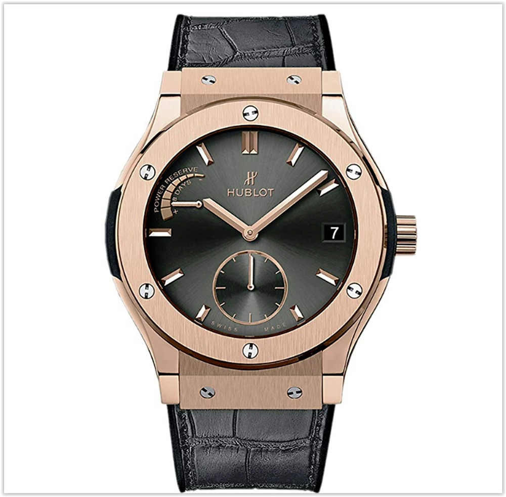 Hublot 18ct Rose Gold Classic Fusion Power Reserve 45mm Mens Watch buy online