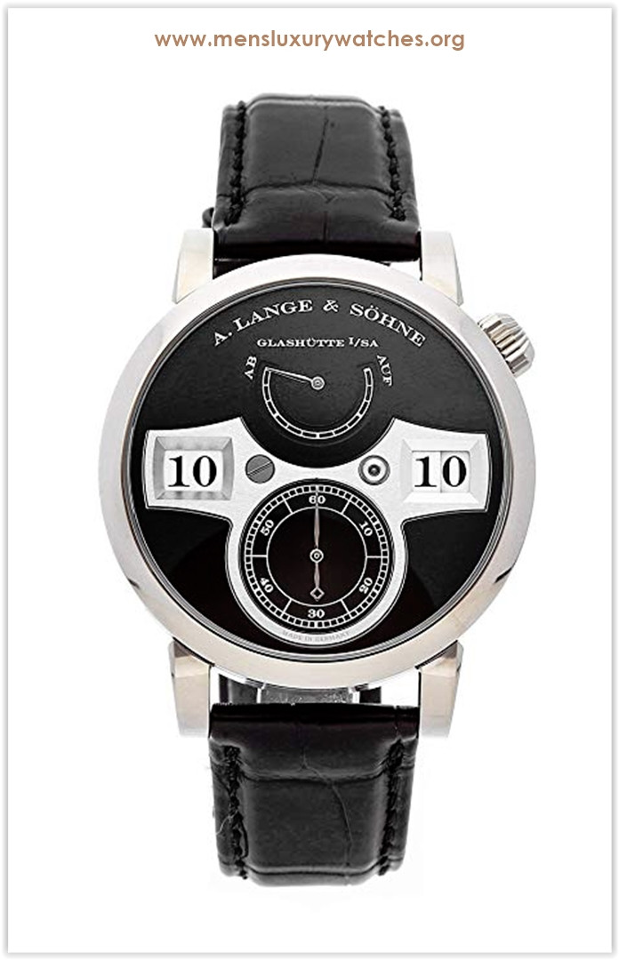 A. Lange & Sohne Zeitwerk Mechanical (Hand-Winding) Black Dial Men's Watch Price