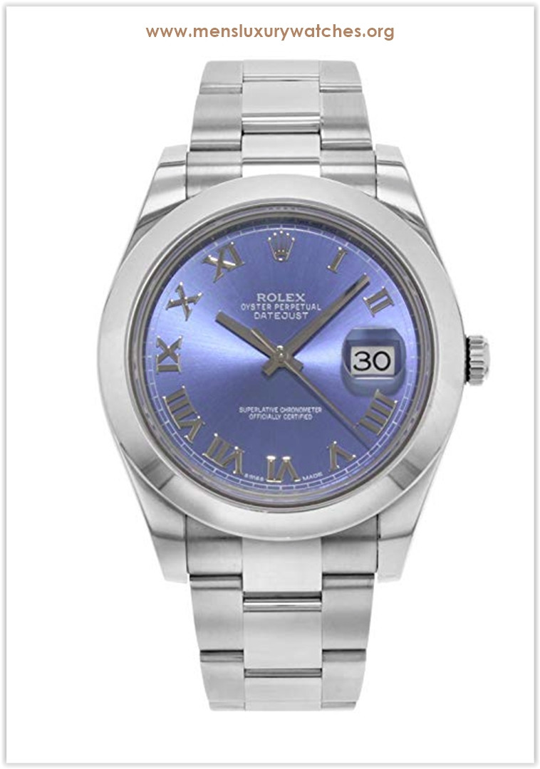 Rolex Datejust II 41MM Stainless Steel Blue Dial Roman Oyster Men's Watch Price