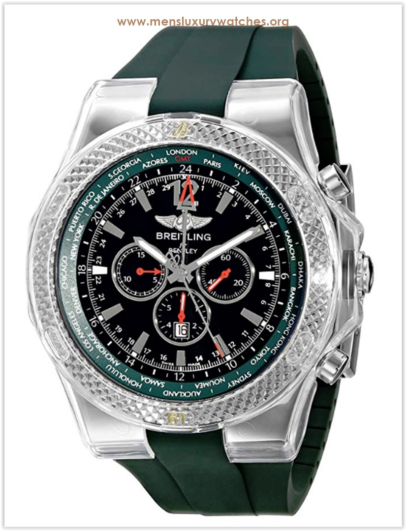 Breitling Bentley GMT Chronograph Green Men's Watch Price