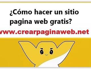 ¿Cómo hacer un sitio pagina web gratis?