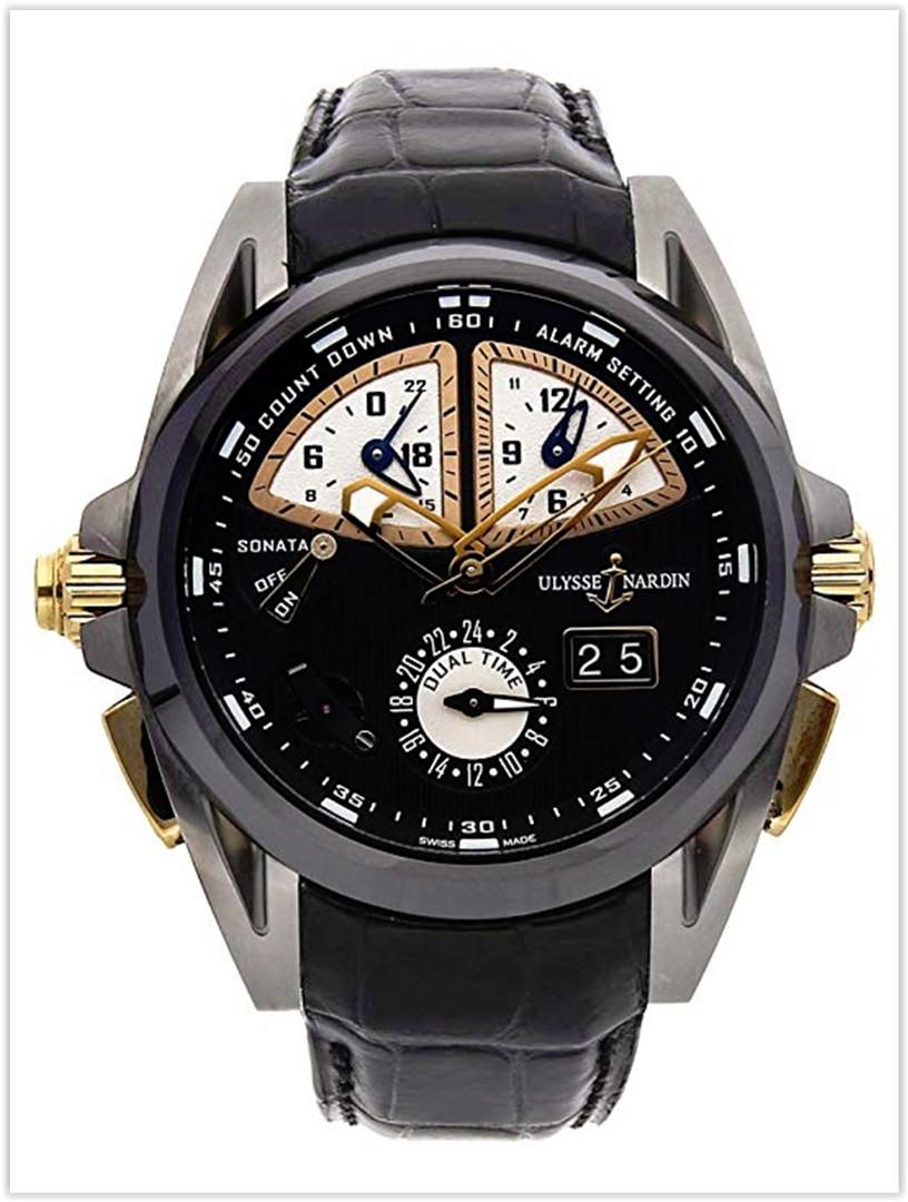 Ulysse Nardin Sonata Mechanical Black Dial Men's Watch Price