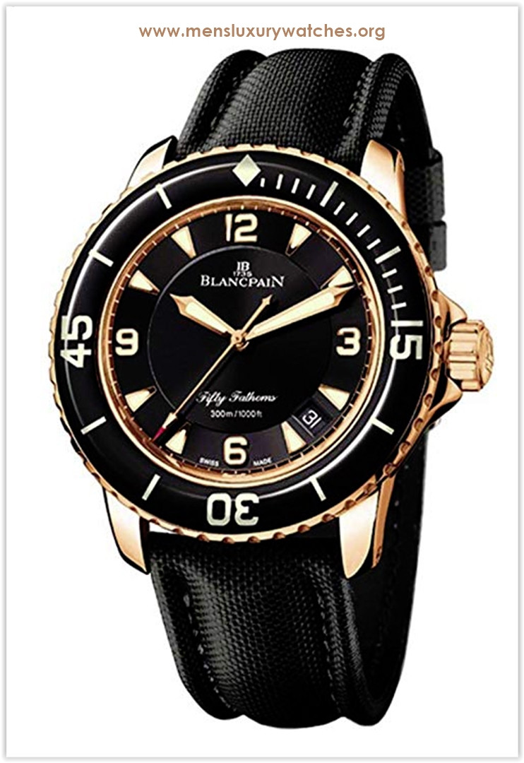 Blancpain Gold and Canvas Sport Men's Watch Price