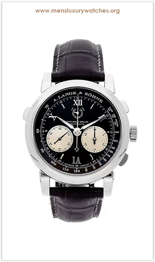 A. Lange & Sohne Double Split Mechanical (Hand-Winding) Black Dial Men's Watch the best price