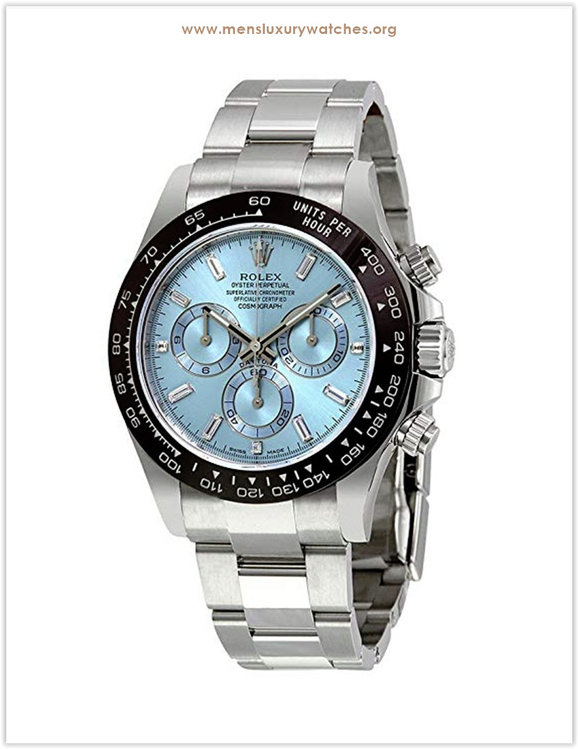 Rolex Oyster Perpetual Cosmograph Daytona Ice Blue Dial Automatic Chronograph Men's Watch