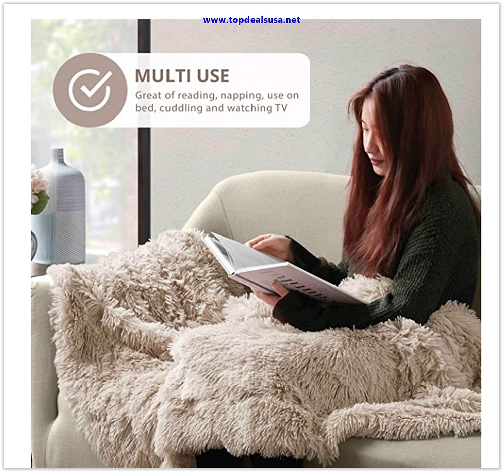 Best buy Hyde Lane Fluffy Plush Throw Blankets for Couch Sofa