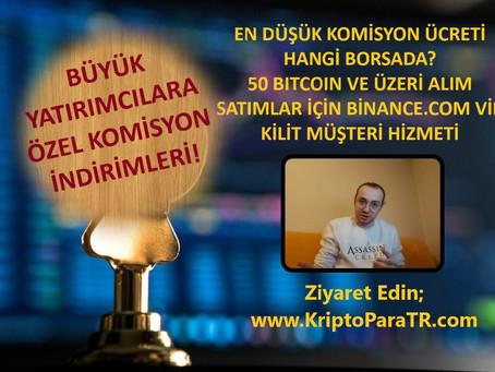 En düşük komisyon ücreti hangi Kripto Para borsasında?