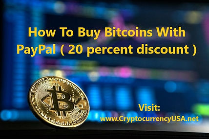 How To Buy Bitcoins With PayPal ( 20 per