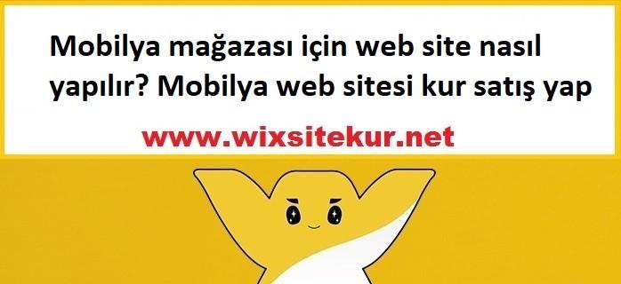 Mobilya mağazası için web site nasıl yapılır? Mobilya web sitesi kur satış yap