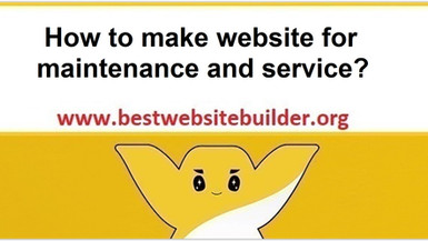 How to make website for maintenance and service?