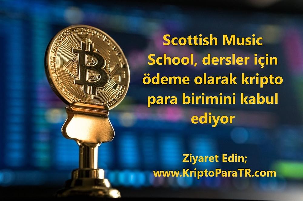 Scottish Music School, dersler için ödeme olarak kripto para birimini kabul ediyor