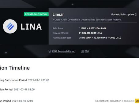 Linear Finance (Lina) Listed on Binance