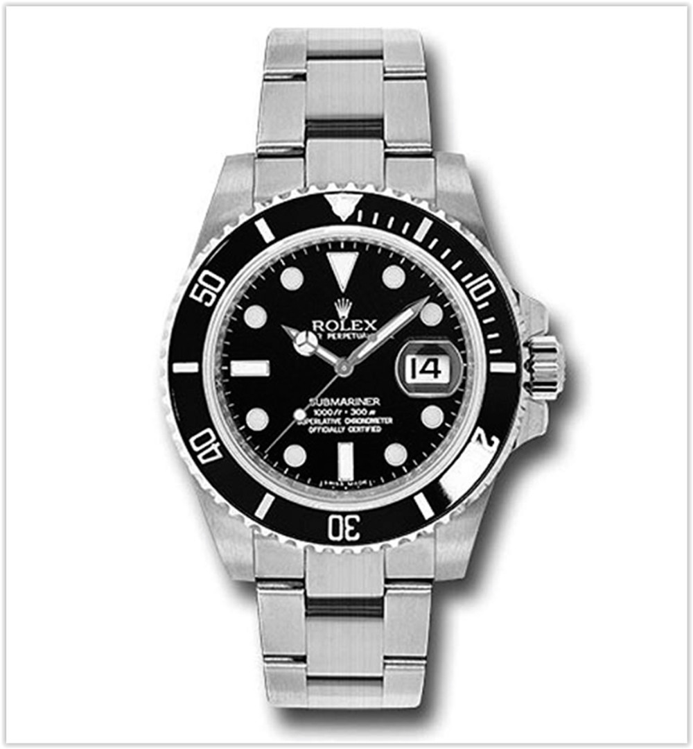 Rolex Oyster Perpetual 40MM Stainless Steel Submariner Date With a Rotable Black Cerachrom Men's watch best price