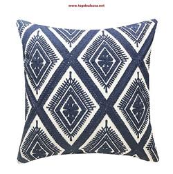 Cotton Embroidery Cushion Cover Decorati