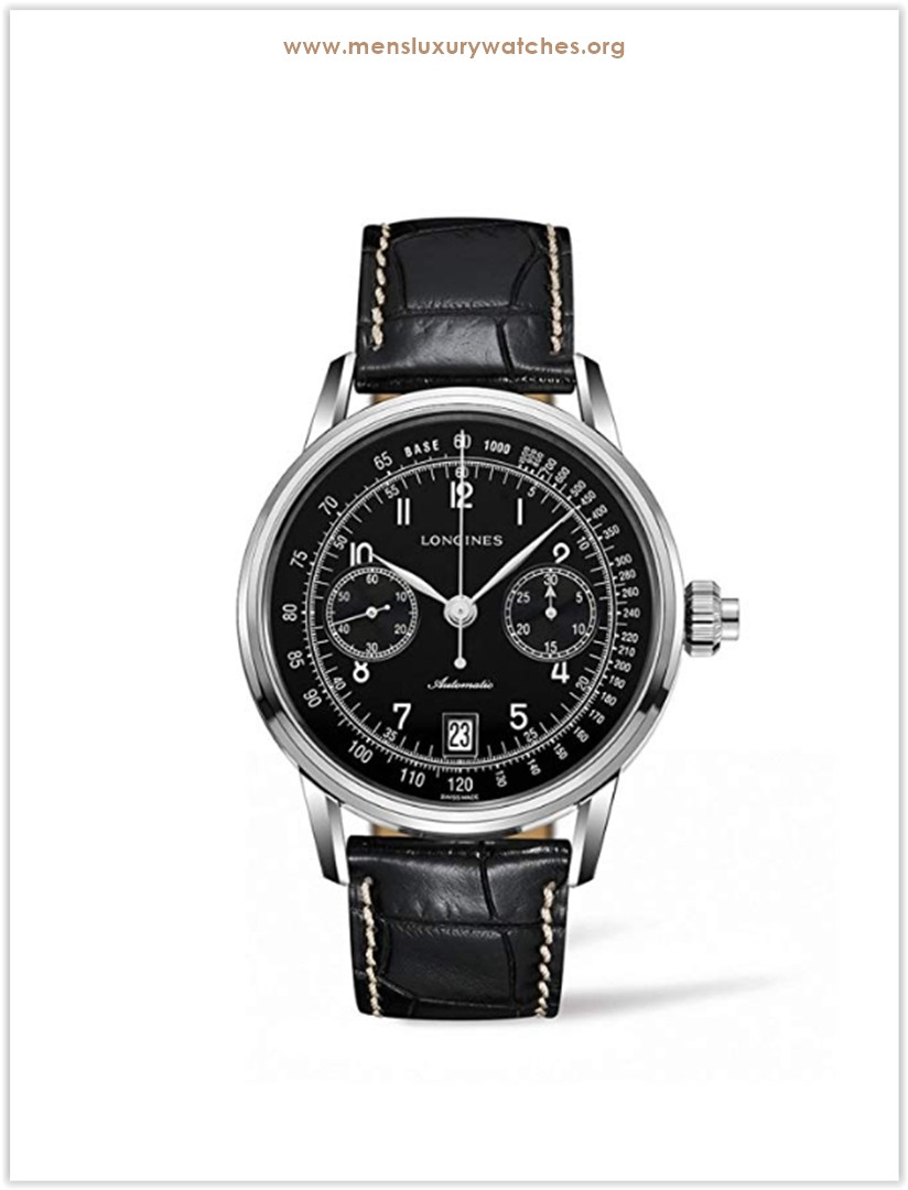 Longines Heritage Chronograph Black Dial Automatic Men's Watch the best price