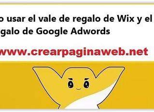 Cómo usar el vale de regalo de Wix y el vale de regalo de Google Adwords