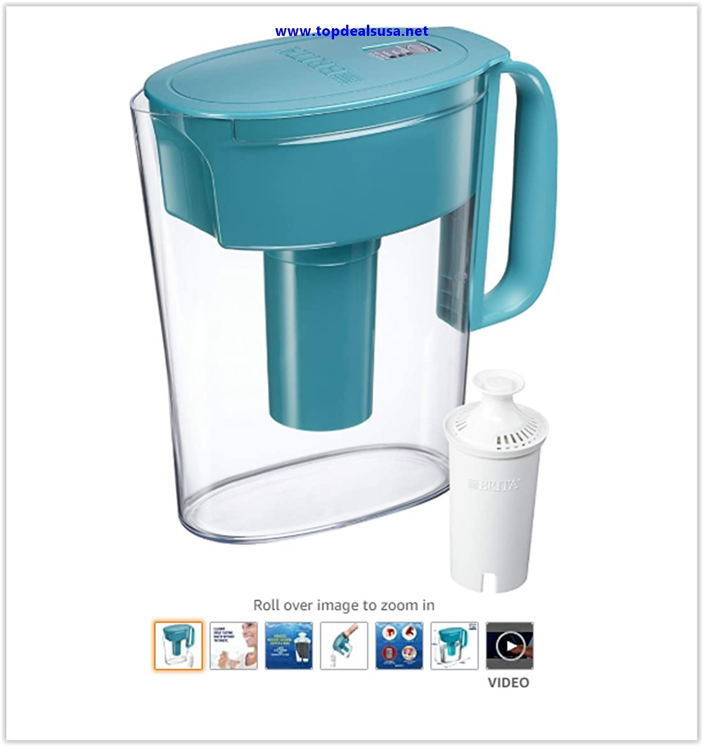 Best Buy Brita Metro Pitcher with 1 Filter, 5 Cup, Turquoise