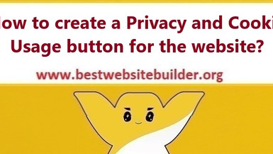 How to create a Privacy and Cookie Usage button for the website?