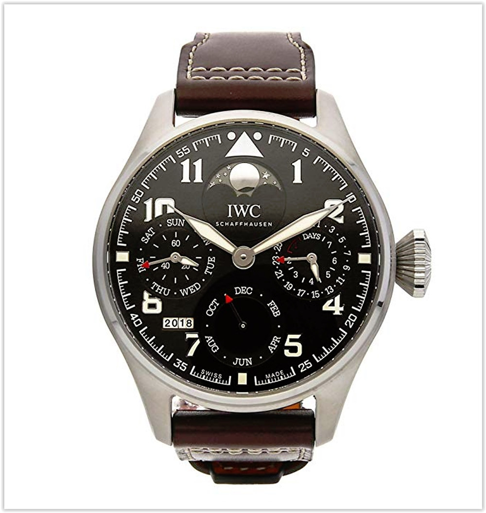 IWC Pilot Mechanical (Automatic) Brown Dial Men's Watch best price