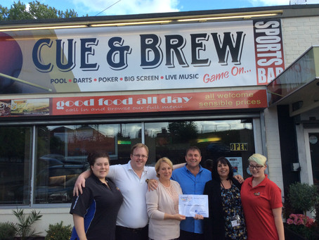 Cue and Brew, Kidderminster - Making a Difference.