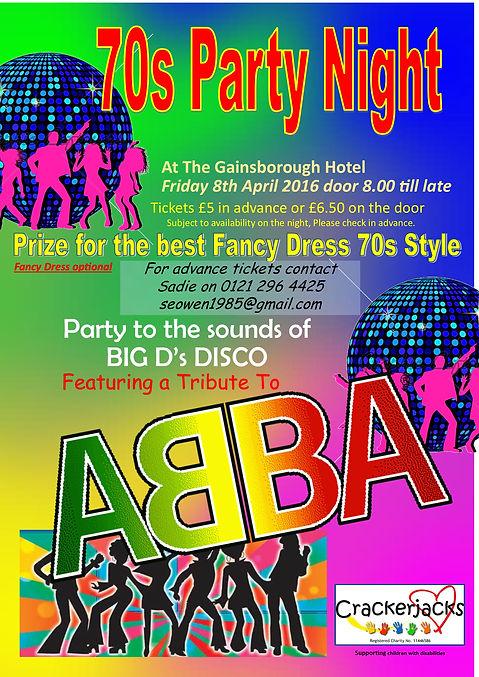 70's Disco Night - 8th APRIL 2016