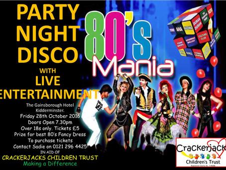 80's Mania Fundraising Night
