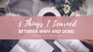 3 Things I Learned
